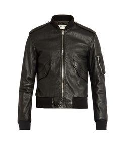 Saint Laurent | Leather Bomber Jacket