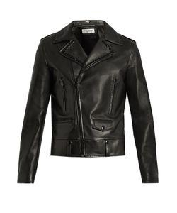 Saint Laurent | Stud-Embellished Leather Biker Jacket