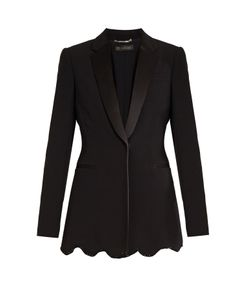 Versace | Satin-Lapel Embellished Cady Jacket