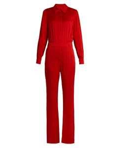Sonia Rykiel | Point-Collar Long-Sleeved Cady Jumpsuit