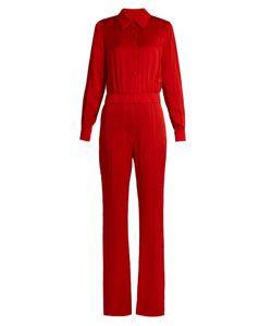 Sonia Rykiel | Point-Collar Long-Sleeved Cady Jumpsuit