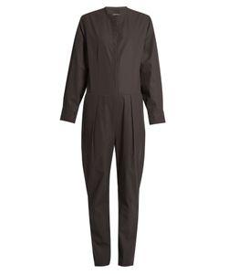 Isabel Marant | Long-Sleeved Cotton-Poplin Jumpsuit