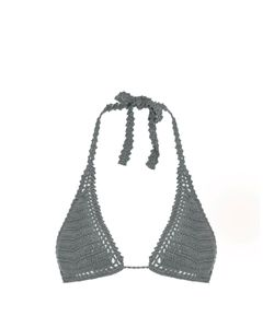 She Made Me | Essential Sliding Crochet Triangle Bikini Top