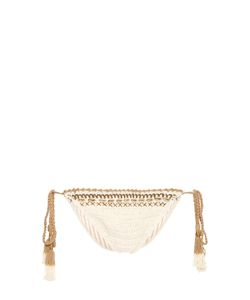She Made Me | Mihira Embellished Tie-Side Crochet Bikini Briefs