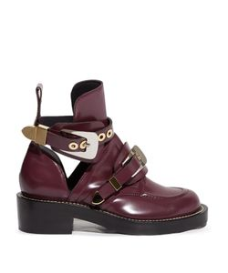 Balenciaga | Ceinture Cut-Out Leather Ankle Boots