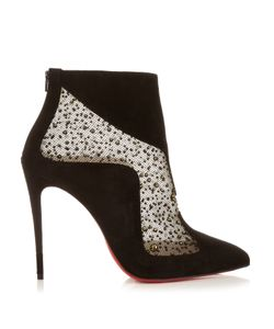 CHRISTIAN LOUBOUTIN | Papillo 100mm Suede Ankle Boots