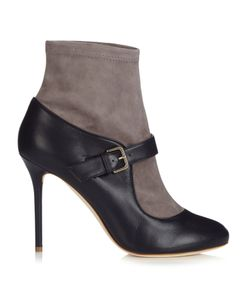 Malone Souliers | Jeanette Suede And Leather Sock Boots