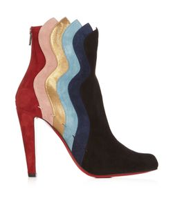 CHRISTIAN LOUBOUTIN | Wavy 100mm Panelled Suede Ankle Boots