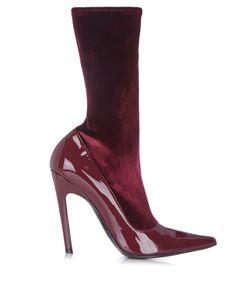Balenciaga | Boudoir Velvet And Leather Ankle Boots
