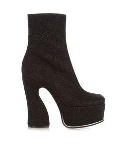Maison Margiela | Lurex Platform Ankle Boots