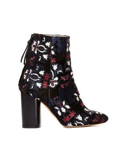 Isabel Marant | Guya Embroidered Suede Ankle Boots