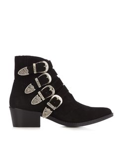 Toga | Buckle Suede Ankle Boots