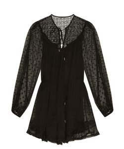 Zimmermann | Belle Swiss-Dot And Lace Playsuit
