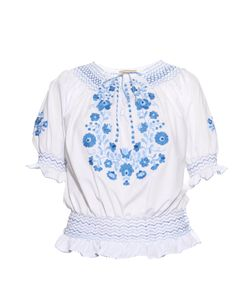 Muzungu Sisters | Dora Embroidered Cotton Top