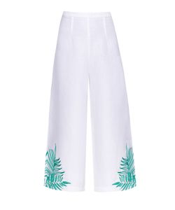 Mara Hoffman | Palm-Embroidered Linen-Blend Culottes