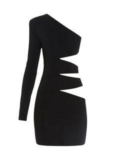 Balmain | Cutaway-Side One-Shoulder Mini Dress