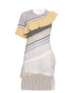 Peter Pilotto | Octave Asymmetric Ruffle-Trimmed Lace Dress