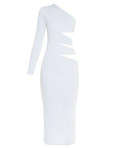 Balmain | Cutaway-Side One-Shoulder Midi Dress