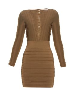 Balmain | Lace-Up Bandage Mini Dress
