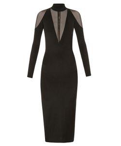 Balmain | Tulle-Insert Midi Dress