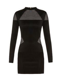 Balmain | Mesh-Insert Mini Dress