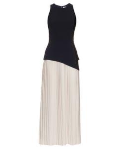 Mugler | Pleated-Skirt Crepe Dress