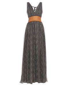 Sophie Theallet | Silk-Chiffon Raffia-Waistband Gown