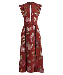 Burberry Prorsum | Floral Fil Coupé Silk Crepe De Chine Gown