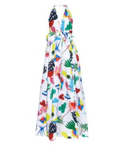 Isolda | Halterneck Niemeyer-Print Dress