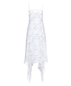 Dion Lee | Line Map-Print Silk Dress