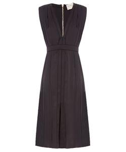 Maison Rabih Kayrouz | V-Neck Silk-Charmeuse Dress