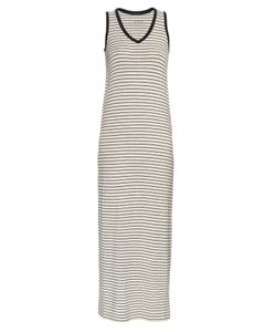 ATM | Striped V-Neck Jersey Dress