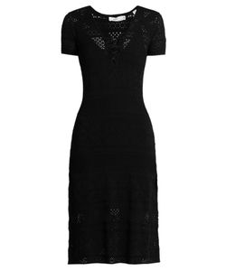 A.L.C. | Trevi V-Neck Eyelet-Knit Dress