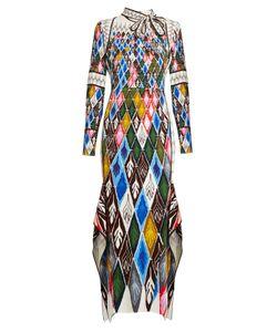 Peter Pilotto | Argyle-Print Long-Sleeved Maxi Dress