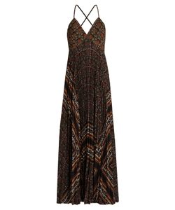 A.L.C. | Katia Scarf-Print Pleated Dress