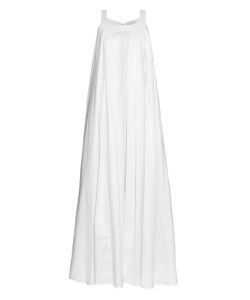 Osman | Maysan Pleated Cotton Maxi Dress