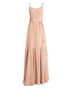 Ryan Roche | Sleeveless Dropped-Waist Silk Maxi Dress