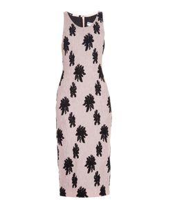 Balenciaga | Floral-Motif Silk-Cloqué Midi Dress