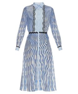 Mary Katrantzou   Silcott Snuffbox-Print Silk And Cotton-Blend Dress
