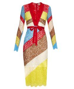 Preen by Thornton Bregazzi   Anoushka V-Neck Lace Dress
