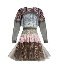 Natasha Zinko | Floral-Print Flounce Hem Cotton Dress