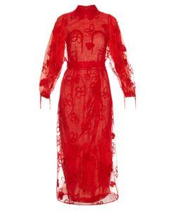 Simone Rocha | Spooky Flower-Embroide Long-Sleeved Dress