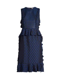 Lanvin | Ruffled Jacquard Dress