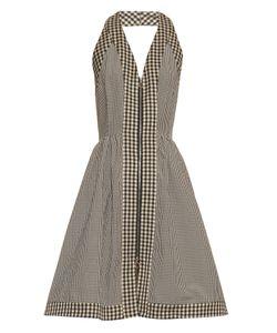 Isa Arfen | Halterneck Checked Cotton-Blend Dress