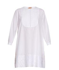 NO. 21 | Lace Trimmed Cotton-Poplin Dress