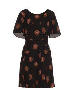 A.L.C. | Crest-Print Silk Dress