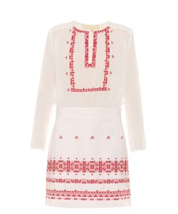 Vanessa Bruno | Exo Embroidered Cotton And Linen-Blend Dress