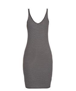 ATM | Striped Ribbed-Jersey Dress