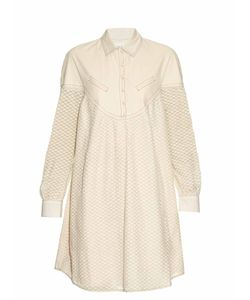 Cecilie Copenhagen | Florence Long-Sleeved Cotton And Silk-Blend Dress