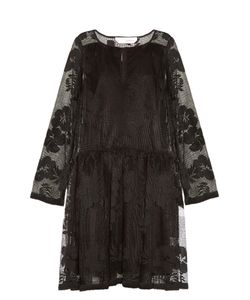 See by Chloé | Floral-Mesh Long-Sleeved Dress
